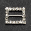 Small Diamanté Rectangle Ribbon Buckle