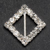 Small Diamanté Diamond Ribbon Buckle