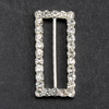 Large Diamanté Rectangle Ribbon Buckle