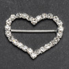 Large Diamanté Heart Ribbon Buckle