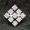 Diamanté Squares Brooch
