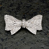 Diamanté Bow Brooch