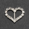 Small Diamanté Heart Buckle Vertical Bar