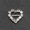 Mini Diamanté Heart Buckle