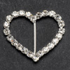 Large Diamanté Heart Vertical Bar
