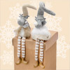 Resin Mr & Mrs Christmas Deer with Dangly Legs