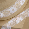 Rose Lace Ribbon White
