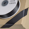 Double Sided Satin Ribbon 6mm x 25M Black