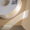 Double Sided Satin Ribbon 6mm x 25M Cream