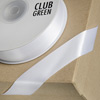 Double Sided Satin Ribbon 10mm x 25M Icing White