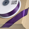 Double Sided Satin Ribbon 15mm x 25M Aubergine