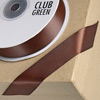 Double Sided Satin Ribbon 15mm x 25M Chocolate Brown