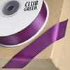 Double Sided Satin Ribbon 15mm x 25M Plum
