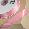 Double Sided Satin Ribbon 15mm x 25M Rose Pink