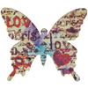 Vintage Love Butterfly Self Adhesive