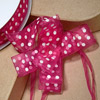 Organza Pull Bow White Spots