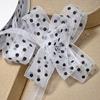 Organza Pull Bow Black Spots