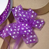 Organza Pull Bow Ribbon White Spots
