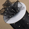 Cut Ribbon Silver Dot on Organza
