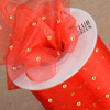 Cut Ribbon Gold Dot on Organza