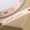 Satin Pull Bow Ribbon with Love