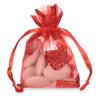 Organza Glitter Heart Pouch