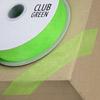 Woven Edge Organza Ribbon 10mm x 25M Apple Green