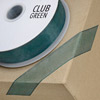 Woven Edge Organza Ribbon 10mm x 25M Bottle Green