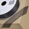 Woven Edge Organza Ribbon 10mm x 25M Black