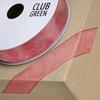 Woven Edge Organza Ribbon 10mm x 25M Dusky Pink