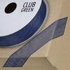 Woven Edge Organza Ribbon 10mm x 25M Navy Blue