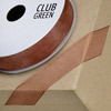 Woven Edge Organza Ribbon 15mm x 25M Copper