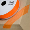 Woven Edge Organza Ribbon 15mm x 25M Orange