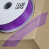 Woven Edge Organza Ribbon 15mm x 25M Purple