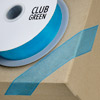 Woven Edge Organza Ribbon 38mm x 25M Turquoise