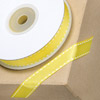 Grosgrain Ribbon with White Stitching