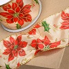 Christmas Poinsettia/Holly Ribbon