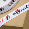 Grosgrain Christmas Ribbon Penguin