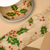 Hessian Wired Christmas Holly/Swirl