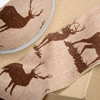Wired Hessian Ribbon with Stag