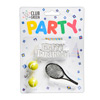 Candle Kit with Happy Birthday, 2 Tennis balls, 1 Racquet