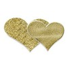 Self Adhesive Glitter Double Heart