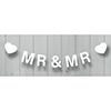 Wooden Bunting Mr & Mr