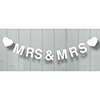 Wooden Bunting Mrs & Mrs