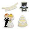 Wooden Sticker Wedding Set