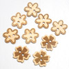 Wooden Flower Buttons 3 asssorted designs 9 per pack