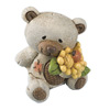 Hessian Bear with Patch+Brown Flower