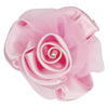 Large Satin Organza Rose with Clip