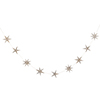 GLD STAR WOOD GARLAND 2mt
