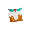 CHRISTMAS PUDDING PLACE CARDS (10xPK)